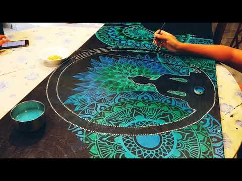canvas painting of buddha tutorials by arpita majumdar