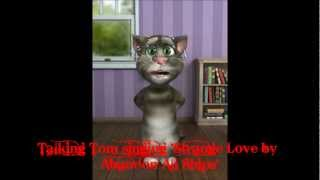 Talking Tom singing 'Strange Love by Abandon All Ships'