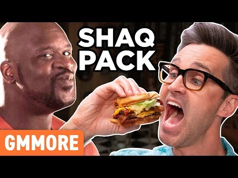Discontinued Shaq Pack Burger Taste Test  HD Mp4 3GP Video and MP3