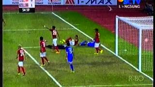 Sea Games Myanmar  Kurnia Mega Terkapar Diseruduk Pemain Thailand