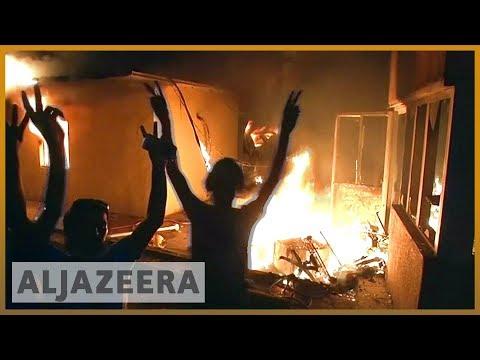 🇮🇶 Iraqi protesters set fire to Iranian consulate in Basra | Al Jazeera English
