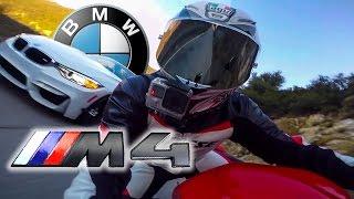 Street Race CRASH! BMW M4 vs MaxWrist Ducati 959 Panigale