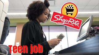 COME TO WORK WITH ME!! GROCERY STORE CASHIER!! TEEN JOB!!