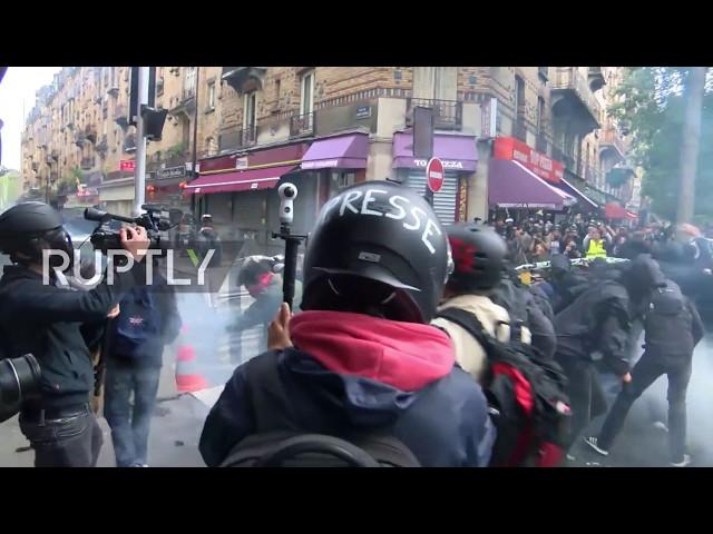 اشتباكات في فرنسا أثناء مظاهرات احتجاجا على إصلاحات قوانين العمل