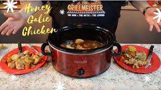 Crock Pot Honey Garlic Chicken!  (5 hours on high)