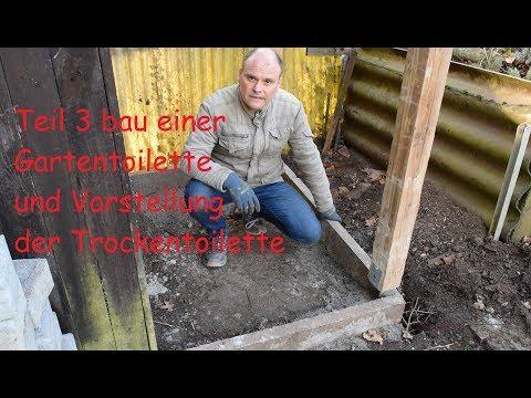 Bau einer Gartentoilette Teil 3