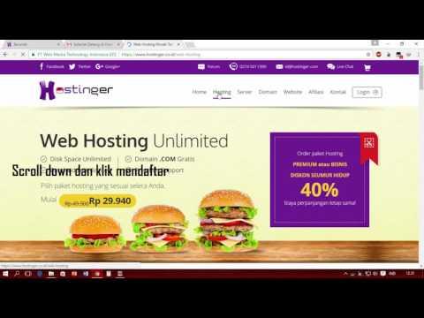 Video Cara Hosting dan Membuat Website Gratis Dengan IDHostinger Terbaru 2017