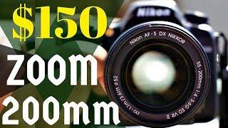 AF-S DX NIKKOR 55-200mm f/4-5.6G ED VR II Lens Review | Nikon D7500 + Compact + Light Weight