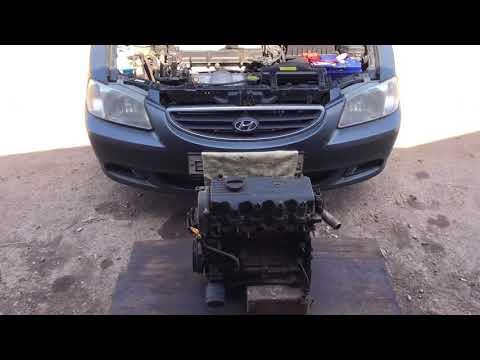 Как найти номер двигателя на 12 и 16 клапанном двигателе Hyundai Accent