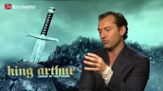 Entrevista Com Jude Law Sobre KING ARTHUR LEGEND OF THE SWORD