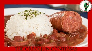 HOW TO MAKE LOUISIANA STYLE RED BEANS AND  RICE| ANDOUILLE SAUSAGE| CAJUN RECIPE| SLOW COOKER