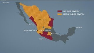 Mexico Travel Warning For Five States
