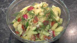 Смотреть онлайн Пошаговый рецепт немецкого картофельного салата