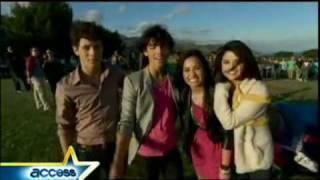 Miley Cyrus, Jonas Brothers, Demi Lovato & Selena Gomez   Send It On   Behind The Scenes. (HD)