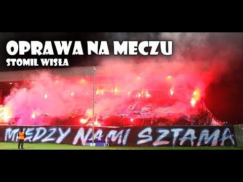 Oprawa zgodowa podczas meczu Stomil Olsztyn - Wisła Płock