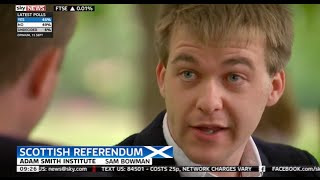Sam Bowman discusses an independent Scotland's currency options on Sky News