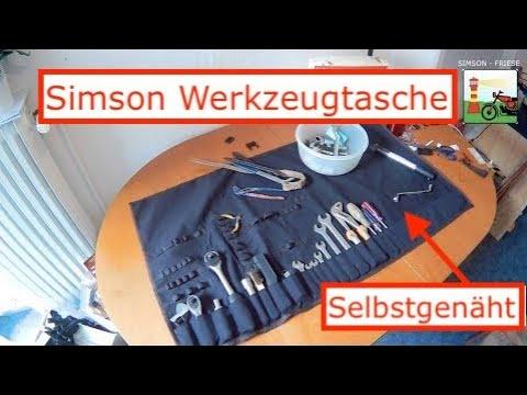 Selbstgenähte Werkzeugtasche für Simson S50 / S51
