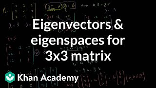 Linear Algebra:  Eigenvectors and Eigenspaces for a 3x3 matrix