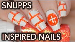 Snupps app inspired nail art thumbnail