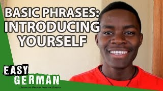 Easy German Basic Phrases - Introducing Yourself