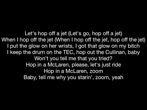 Young Thug feat. Travis Scott - Hop Off a Jet (Official Music Video Lyrics)