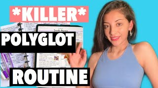 POLYGLOT ROUTINE FOR QUICK LANGUAGE LEARNING 🌟✌🏼HOW TO ACTUALLY LEARN A LANGUAGE 🌟 with notes! 📚