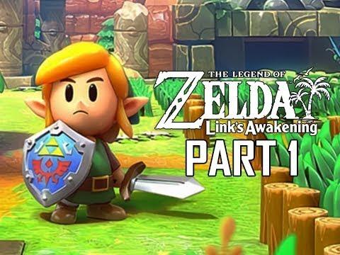 , title : 'The Legend of Zelda Link's Awakening Remake Walkthrough Part 1 - Intro & First Dungeon!!! (Switch)'