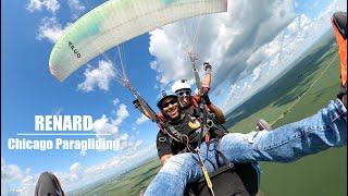 Tandem with Renard | Chicago Paragliding