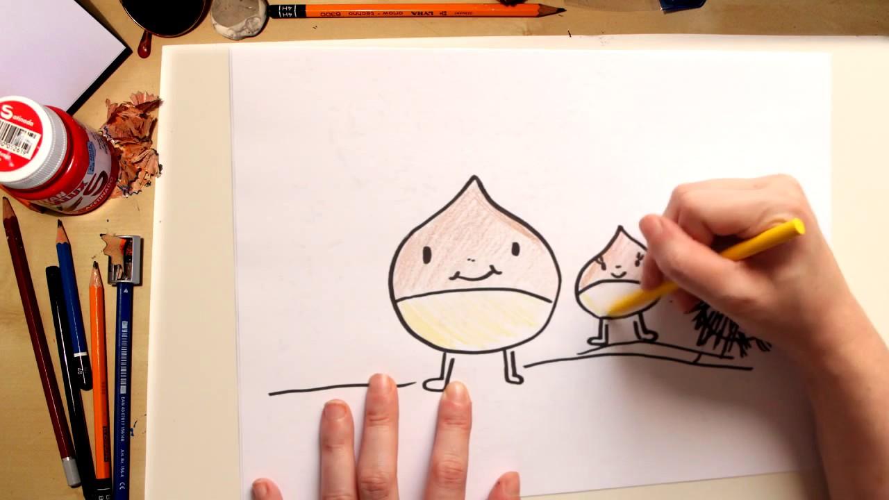 Como desenhar o Sr. e a Sra. Castanha - desenhos para crianças
