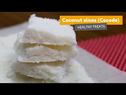 Video recipe: Coconut slices (Brazilian Cocada) | Healthy treats #2