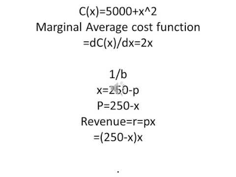 Ohm Math help To find the marginal cost function, marginal revenue