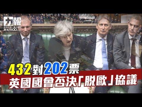文翠珊脫歐協議遭下議院大比數否決