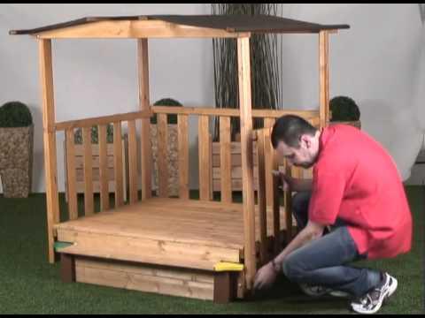 Gaspo - Spielhaus mit Sandkasten Aufbau Gaspo