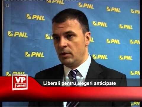 Liberali pentru alegeri anticipate