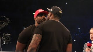 DILLIAN WHYTE GOES HEAD TO HEAD WITH DERECK CHSIORA IN THE RING! - IMMEDIATE REACTION FROM WHYTE