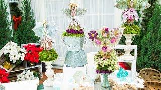 Shirley Bovshow Creates Protea Christmas Angels - Home & Family