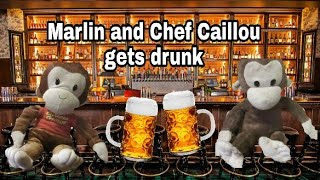 Marlin and Chef Caillou gets drunk