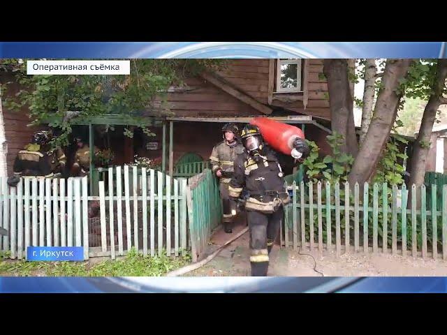 Дом-памятник сгорел в Иркутске