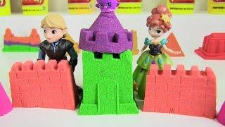 Đồ Chơi Trẻ Em - Làm Lâu Đài Cát Sắc Màu Cho Công Chúa Disney Anna Bằng Cát Động Lực