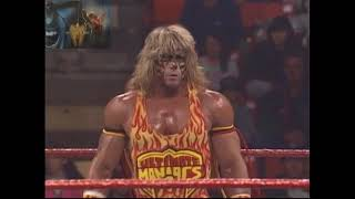 UNRELEASED Tag Match, Ultimate Warrior & Bret Hitman Hart Vs Papa Shango & Kamala 13th Oct 1992