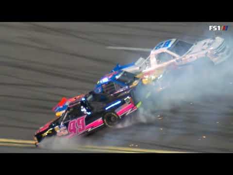 NASCAR Gander Outdoors Truck Series 2019. Daytona International Speedway. Multiple Crash
