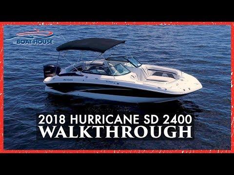 Hurricane Boats: A Walkthrough on the 2018 2400 Deck Boat!