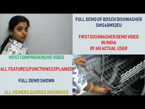 Full demo of Bosch dishwasher SMS40M52EU