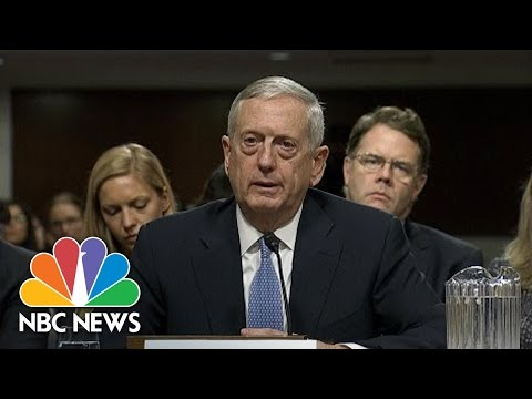 General James Mattis Stresses 'Very, Very High Degree Of Confidence' In Intel Community | NBC News