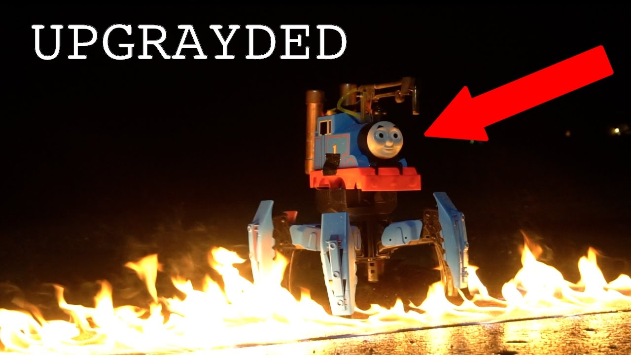 Watch Thomas The Tank Engine Turn Into A Flamethrowing Death Machine