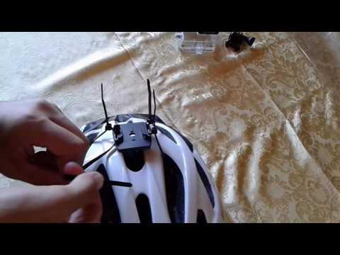 Como instalar una camara de accion en un casco de ciclismo