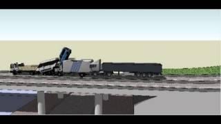 preview picture of video 'Animation 3d de l'accident rabat salé du 03-10-2012'