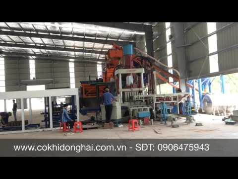 Dây chuyền sản xuất gạch không nung ép tĩnh DONGHAI MECHANICS 25 triệu viên/năm. Gạch KN Thanh Tuyền