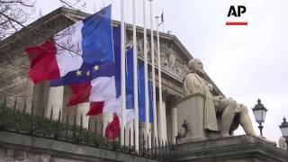 Flags At Half Mast Around French Capital