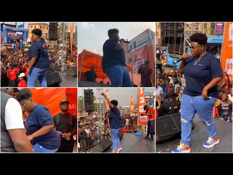 Teni Scatters Computer Village With Crazy Performance At Billionaire Mainland Concert